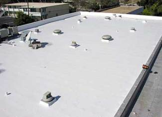 Roof coated with NEOGARD White